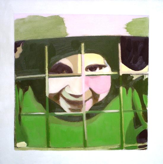 collage, huile sur toile, 50x50 cm 2006